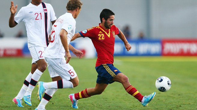 Best of the best: Isco turned in a fine performance again for La Rojita.
