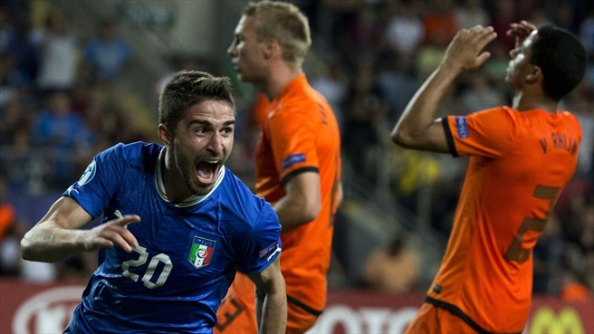 Hard work pays off: Borini's goal sets up a final showdown with Spain.