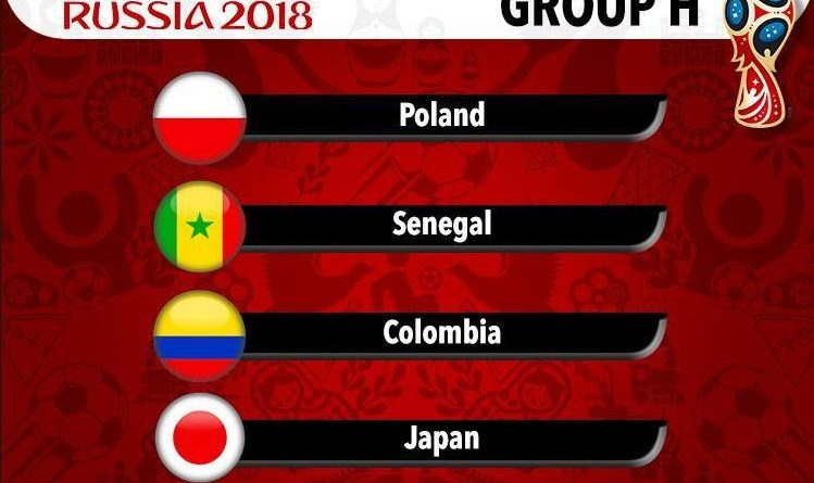 Group H World Cup 2018